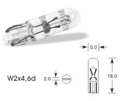 Žarnica 12v w1,2w w2x4,6d - lucas