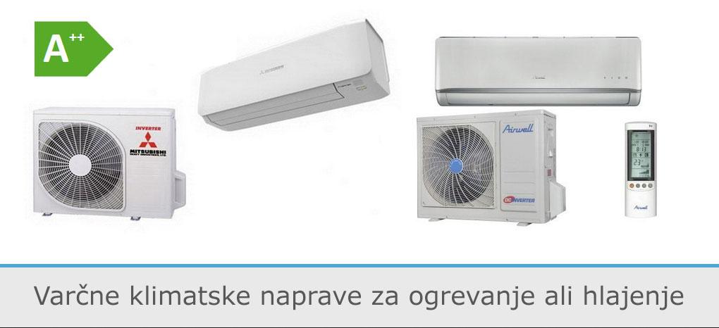 Klimatske naprave za ogrevanje ali hlajenje
