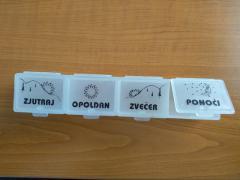 posoda za zdravila (4 prekati)