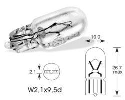 Žarnica 12v w3w w2,1x9,5d - lucas
